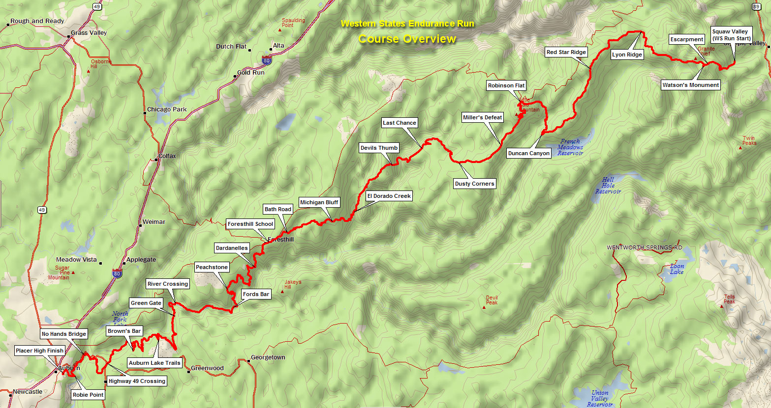 Course Overview with Aid Stations